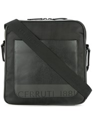 Cerruti 1881 Front Pocket Messenger Bag Black