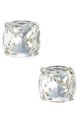 Kate Spade Women's New York Small Stud Earrings Clear Crystal Silver