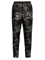 Astrid Andersen Floral Print Satin Trousers