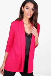 Boohoo Textured Pocket Blazer Pink