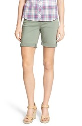 Women's Jag Jeans 'Jordan' Pull On Denim Shorts Silver Sage