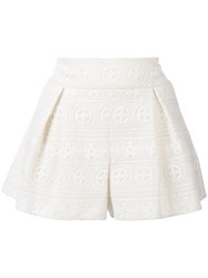 Red Valentino Lace Shorts Women Polyester Viscose 38 White