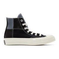Converse Black Patchwork Chuck 70 High Sneakers