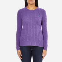 Polo Ralph Lauren Women's Julianna Cashmere Blend Crew Neck Jumper Spencer Purple