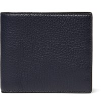 Smythson Burlington Full Grain Leather Billfold Wallet Navy