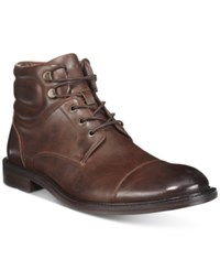 Unlisted By Kenneth Cole Men's Roll With It Cap Toe Ankle Boots Men's Shoes Brown