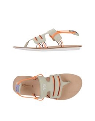 Y 3 Thong Sandals Ivory