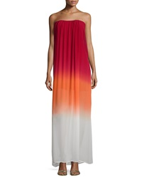Young Fabulous And Broke Young Fabulous And Broke Elenor Ombre Maxi Dress Red Orange