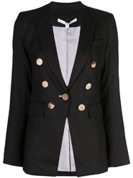 Veronica Beard Classic Double Breasted Blazer Black