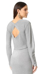 Thierry Mugler Long Sleeve Top Silver