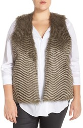 Plus Size Women's Bb Dakota 'Libby' Faux Fur Vest