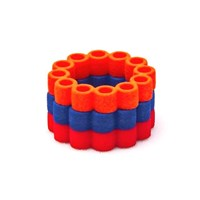 Heart And Noble Fanatic Nylon Circle Ring Trip In Orange Blue Red8