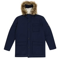 Original Penguin Insulated Dry Wax Parka Jacket Dark Sapphire