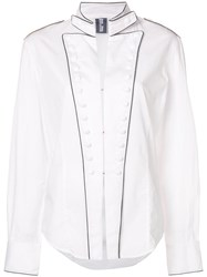 Jean Paul Gaultier Vintage Military Inspired Shirt White
