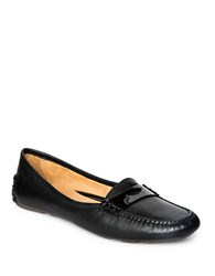 Patricia Green Bristol Leather Driving Moccasins Black