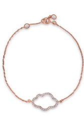 Aamaya By Priyanka Rose Gold Plated Sterling Silver Crystal Bracelet Rose Gold