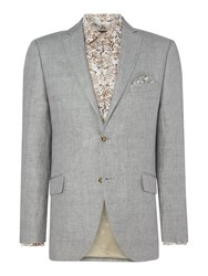 Corsivo Men's Leo Italian Wool Textured Blazer Light Grey
