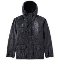 Barbour X Land Rover Informer Wax Jacket Blue