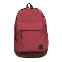 Mahi Leather Canvas Classic Backpack Rucksack In Red Canvas