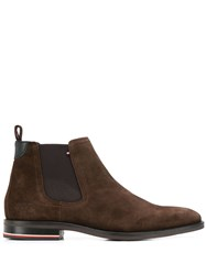 Tommy Hilfiger Elasticated Side Panel Boots Brown
