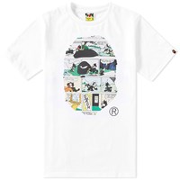 A Bathing Ape X Felix The Cat 8 Tee White