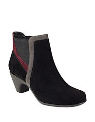Easy Spirit Carilynn Suede Ankle Boots Black Multi