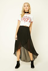 Forever 21 Pleated Tulip Hem Skirt Black
