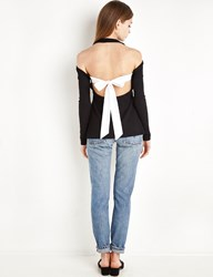 Pixie Market Sunday Tie Back Long Sleeve Top By New Revival