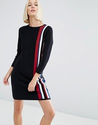 Asos Dress In Knit With Vertical Stripe Multi