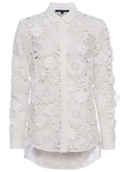 French Connection Manzoni Lace Long Sleeve Shirt Summer White