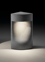Bover Moai Bollard Light Small 13.8 In Height Gray