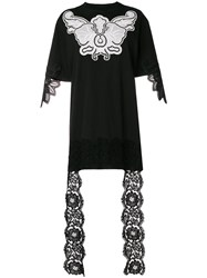 Fausto Puglisi Embroidered Lace Detail Blouse Black