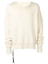 Unravel Project Frayed Cashmere Jumper White