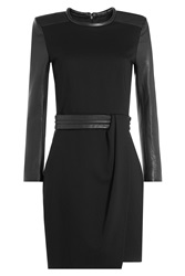 The Kooples Dress With Leather Black