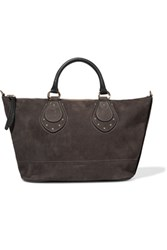 See By Chloe Janis Large Nubuck Tote Dark Gray