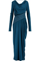 Vionnet Draped Stretch Crepe Gown