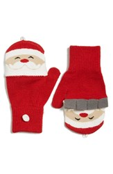 Junior Women's Capelli Of New York Santa Flip Top Gloves