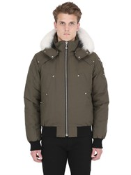 Moose Knuckles Ballistic Bomber Fur Down Jacket