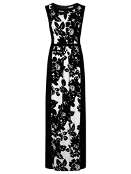 Planet Printed Maxi Dress Black White