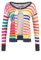 Desigual Beatriz Cardigan Fuchsia Rose Multicoloured