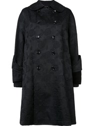 Comme Des Garcons Jacquard Double Breasted Coat Black
