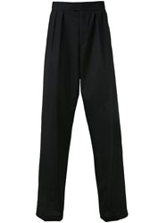 Raf Simons Wide Legged Pleated Trousers Black