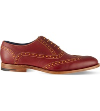 Barker Grant Wingcap Derby Shoes Wine