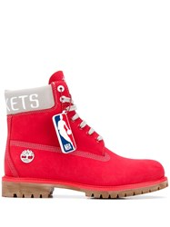 Timberland Nba Boots Red