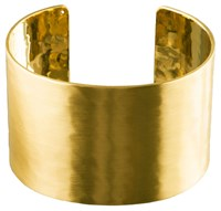 Pilgrim Wide Hammered Gold Plated Cuff Bracelet N A N A
