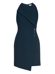 Balenciaga Safety Pin Double Faced Crepe Dress