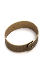 Madewell Line Etch Glider Bangle Vintage Gold