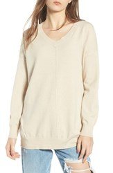 Dreamers By Debut Exposed Seam Sweater Oatmeal