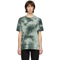 Nudie Jeans Green Tie Dye Njco Circle T Shirt