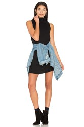 Michael Stars Sleeveless Cowl Shift Dress Black